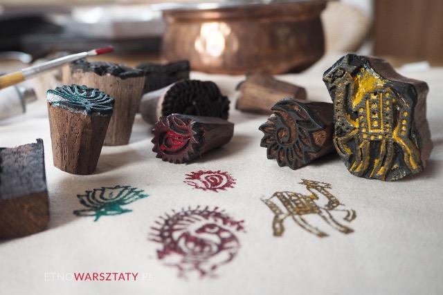 Warsztaty indyjskiego stemplowania na tkaninach (Block print)